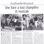 Article Presse Brocante Courrier de Mantes