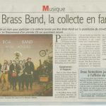 LE COURRIER DE MANTES - BOA BRASS BAND 08-01-2014